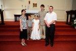 rodzina na I Komunii Świętej